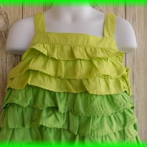 GYMBOREE FLORAL MERMAID COLORBLOCK TIERED RUFFLE DRESS SIZE 5 OR 9